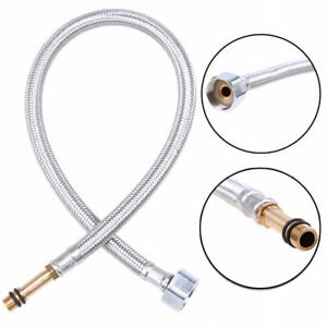"""3//8/"""" Faucet Hose Stainless Steel Braided Water Supply Line Flexible Hoses 2Pcs"""