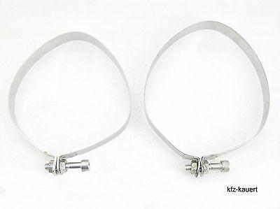 JP Spannband Halteband SET Edelstahl passend für Porsche 911 65-83 Schalldämpfer