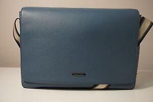 be83bca98e12e5 Michael Kors Men's Stephen Vintage Indigo Blue Large Leather ...