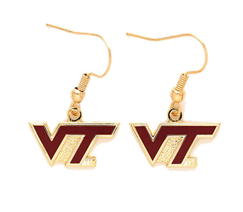 Virginia Tech Hokies NCAA Logo Earrings