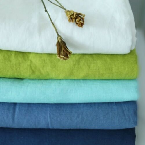 100/% Pure Linen Bed Sheet Cover Bedsheet French Flax Organic Natural Flat Green