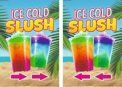 SLUSH A board Drinks Pavement Sign Outdoor Street Catering Swinger 2 Aboard