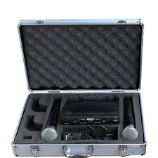 PRO Stage UHF Dual WIRELESS CORDLESS MIC MICROPHONE SYSTEM with case