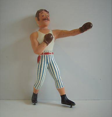 Vintage Industrial Chic Metal Boxing Boxer Sports Player Trophy