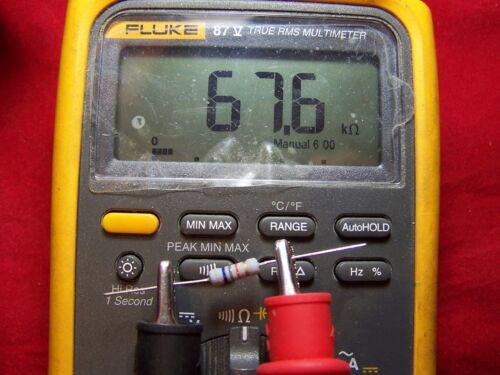 10 Pcs. 68k Ω Ohm 1W Carbon Film Resistor