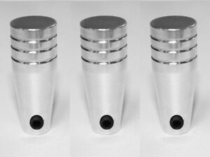 Set-of-3-Polished-Dash-Knobs-3-16-034-Hole-Headlight-Switch-Wiper-Heat-AC-1-9-16-034-L
