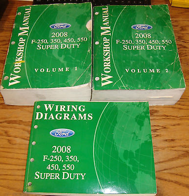2008 Ford F-250 350 450 550 Shop Service Manual 1 & 2 ...