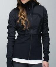 LULULEMON dance studio jacket in black reversible size 4 THUMBHOLES