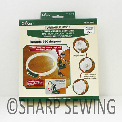 "360 DEG. EMBROIDERY TURNABLE HOOP (7"") #8815 by CLOVER"