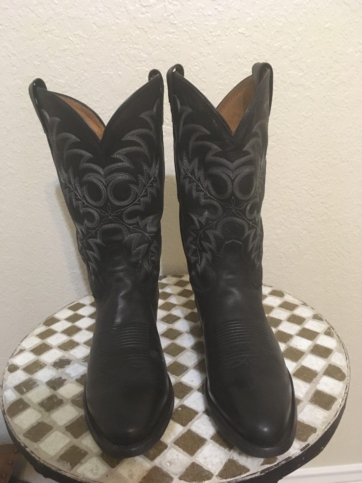 BLACK USA TONY LAMA WESTERN TRAIL BOSS COWBOY BOOTS 10.5 10.5 10.5 D 7679b0