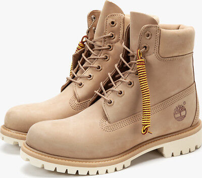 TIMBERLAND Men's 6 Inch Premium Waterproof Boots Light Beige Nubuck A1BBL SALE! | eBay