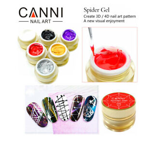 Canni 3d Draw Painting Spider Gel Easy Apply Nail Art Design Soak Off Uv Led Uk Ebay