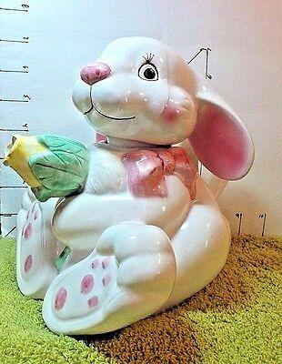 Easter, BunnyTeapot, Tulip Spout, Asian Mfg - Wang's, White,Pink,Yellow, Green