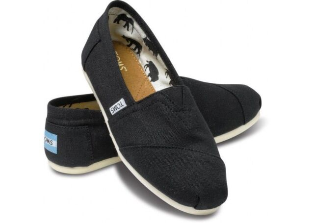 5afb1703d4e Toms Womens Shoes Classic Canvas Black Size 8.5 for sale online | eBay