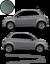 Fiat-500-Autocollant-Bandes-Stickers-adhesifs-decoration-couleur-au-choix miniatura 4