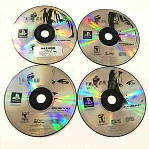 Original-Final-Fantasy-VIII-8-Sony-PlayStation-PS1-Complete-4-Disk-Set-TESTED