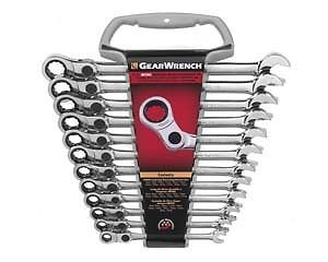 Gearwrench 85488 12 Piece Indexing Combination Gearwrench Set Metric
