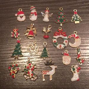 19pcs-lot-Natale-da-appendere-Decorazioni-Fai-da-Te-Gioielli-Ciondoli-Albero-Natale-Decor