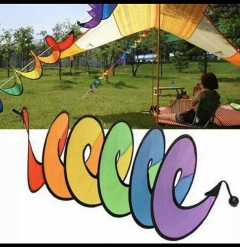 Wind Spinner Rainbow Spiral Windmill Foldable For Camping Tent Home Garden