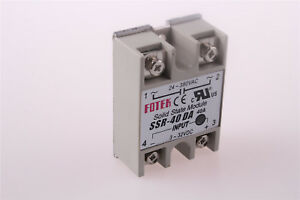 SSR-40DA DC-AC Metal Base Solid State Relay 40A Output 24-380VAC Input 3-32VDC