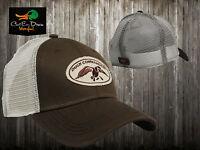 Authentic Duck Commander Dynasty Brown & Mesh Trucker Hat Cap Buck