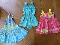12 Month Girl Summer Clothes Lot $74 Msrp Blueberri Dress Chaps Dresses