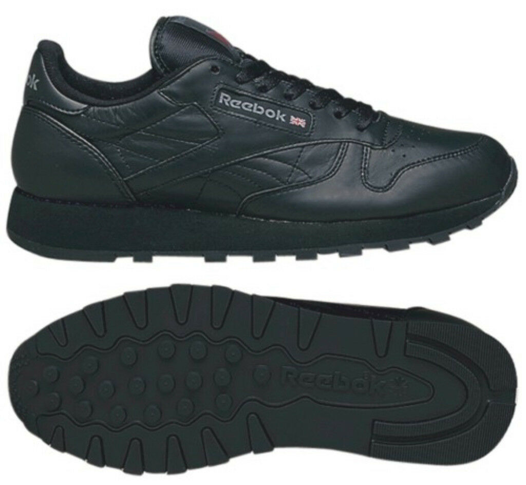 bdd8b783af Reebok Classic Leather Noir 2267 2267 2267 Basket Classic Chaussures de  course 8ac104