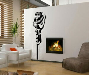 Vinilo Decorativo Pared Salon Electrodomestico Decoracion Microfono - Decoracion-vinilos-salon