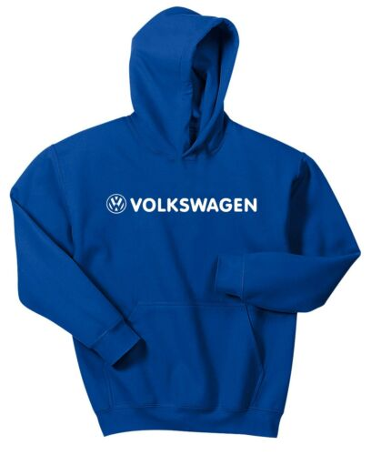 VW VOLKSWAGEN HOODIE SWEAT SHIRT BLUE PULLOVER JACKET