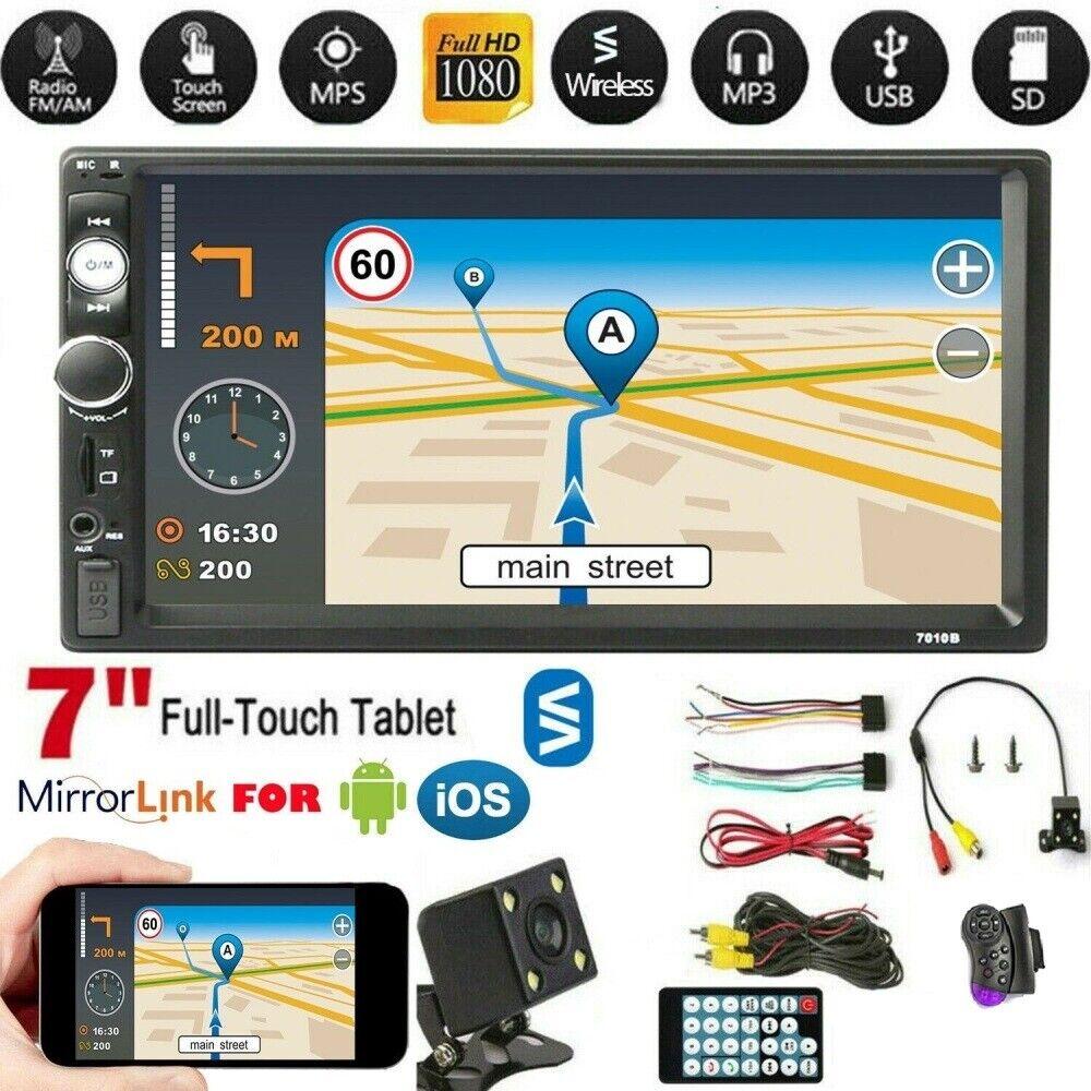 autoradio: 2 DIN Autoradio 7″ Stereo Radio MP3 MP5 LETTORE FM USB BLUETOOTH Auto TELECAMERA