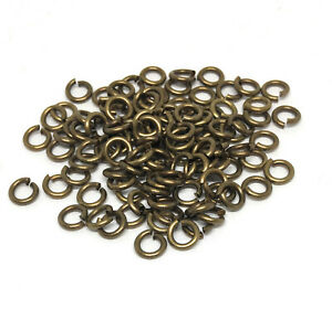 antiqued-gold-plated-brass-open-jump-rings-5mm-18-gauge