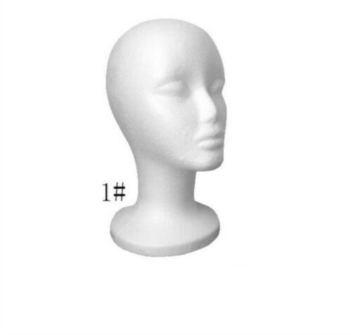 1pcs Foam Mannequin Female Head Model Dummy Wig Glasses Hat Display Stand