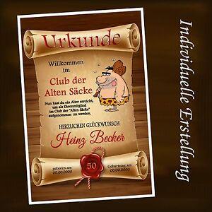 Das Bild Wird Geladen Urkunde 034 Club Der Alten Saecke 034 18