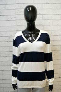 TOMMY-HILFIGER-Maglione-Donna-Taglia-XL-Pullover-Felpa-Sweater-Shirt-Cardigan