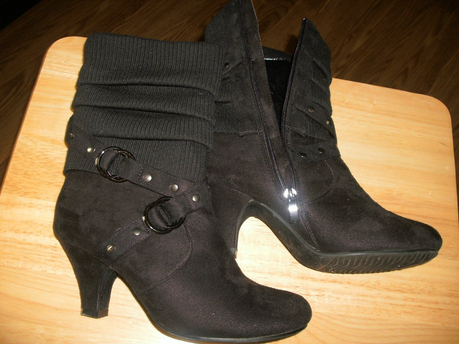 Femmes Magnifique noir 8.5 bottes Mode