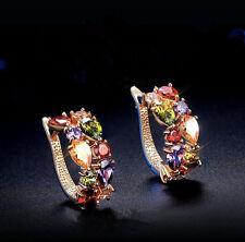 Hot Fashion 1Pair Women Lady Elegant Crystal Rhinestone Ear Stud Earring Jewelry