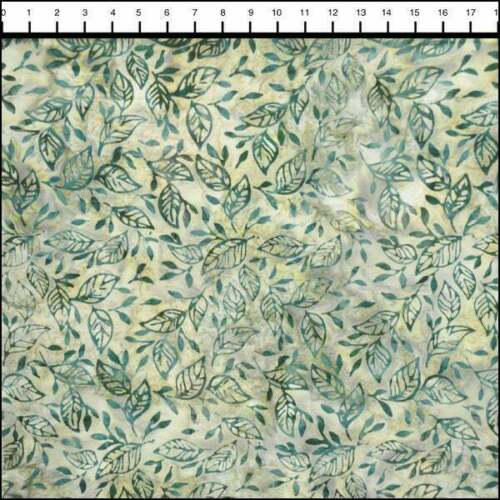 LUNN FABRICS EXCLUSIVE BATIK PAPER BIRCH HOLLY GREEN COTTON FABRIC YARD 3989-240