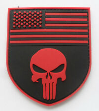 PUNISHER SKULL TACTICAL USA FLAG MILITARY    PATCH NEW    SJK  + 342