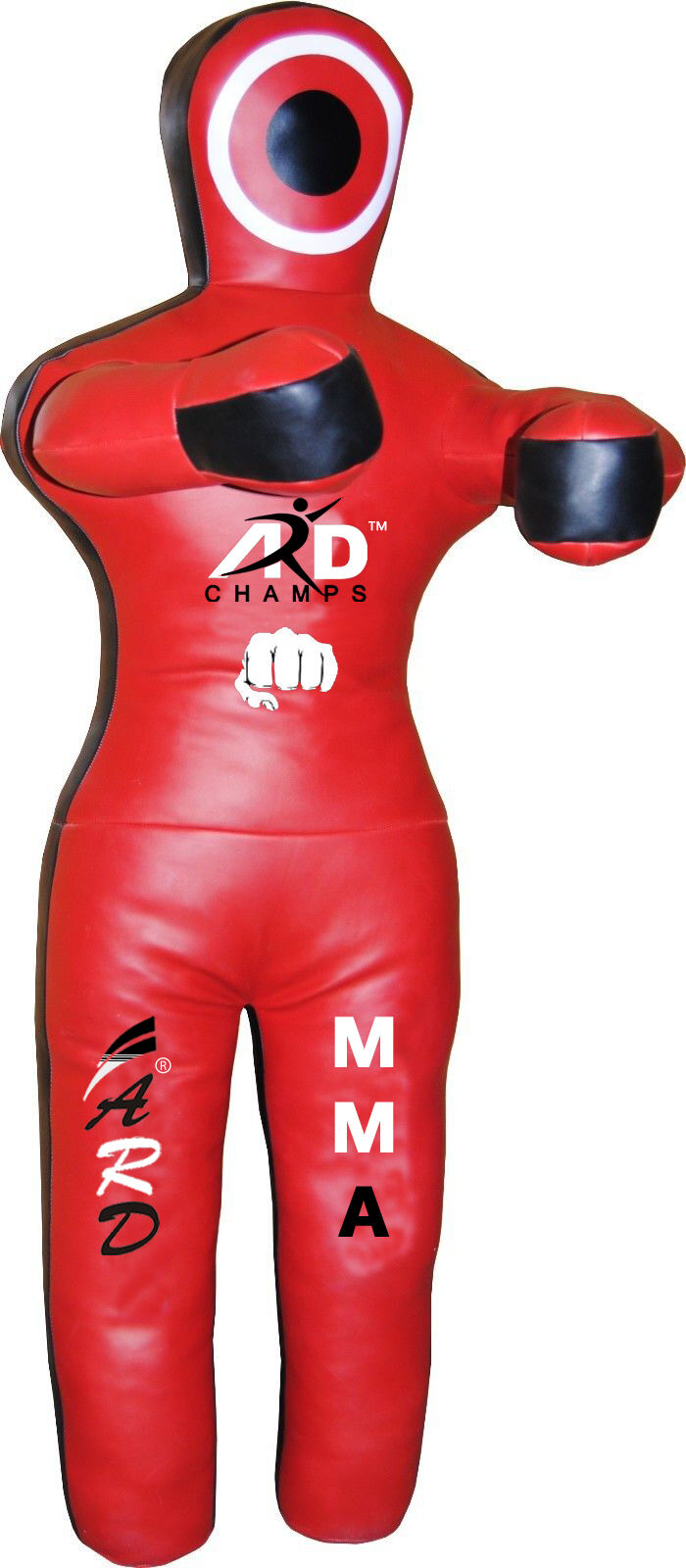 2Fit™ Brazilian Jiu Jitsu Leather Grappling Dummy MMA Wrestling Martial Arts-Red