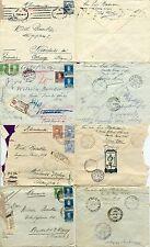 4 Belege/covers: REPUBLICA ARGENTINA (1930er/1930s) Einschreiben/Olympia