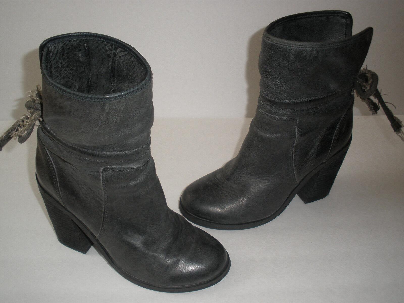 @ Kensie Negro Cuero gris 4  de tacón botas nos 6,5 Super Hot