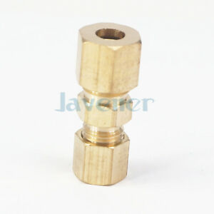 """1//4/"""" NPT Male x Fit 1//4/"""" Tube OD Compression Union Brass Pipe Fitting Connectors"""