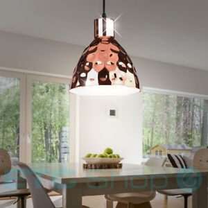 Retro h nge leuchte ess zimmer hammerschlag decken pendel for Zimmer dekoration rosegold