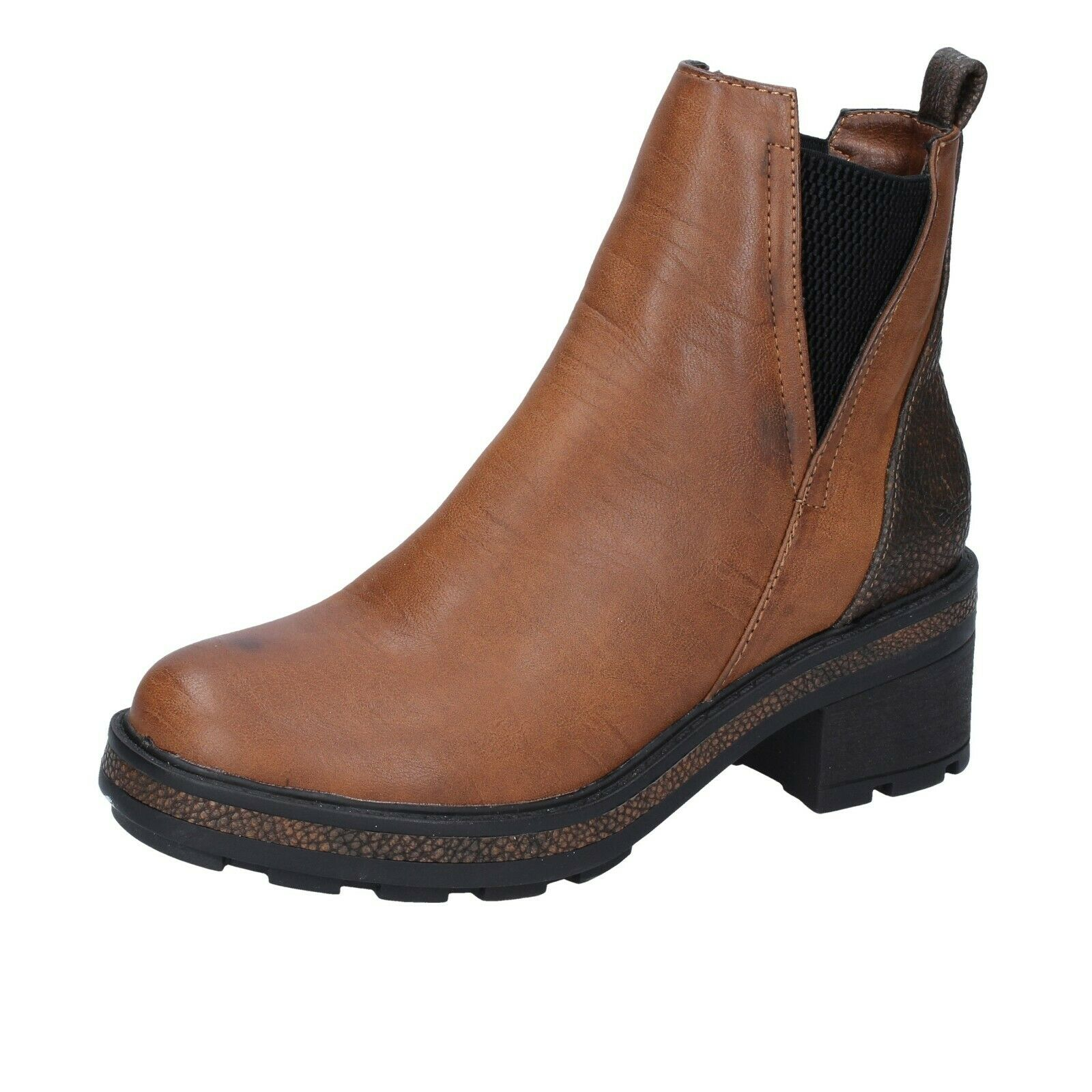 Femme chaussures Francesco Milano 3 (UE 36) Bottines en cuir marron BR36-36