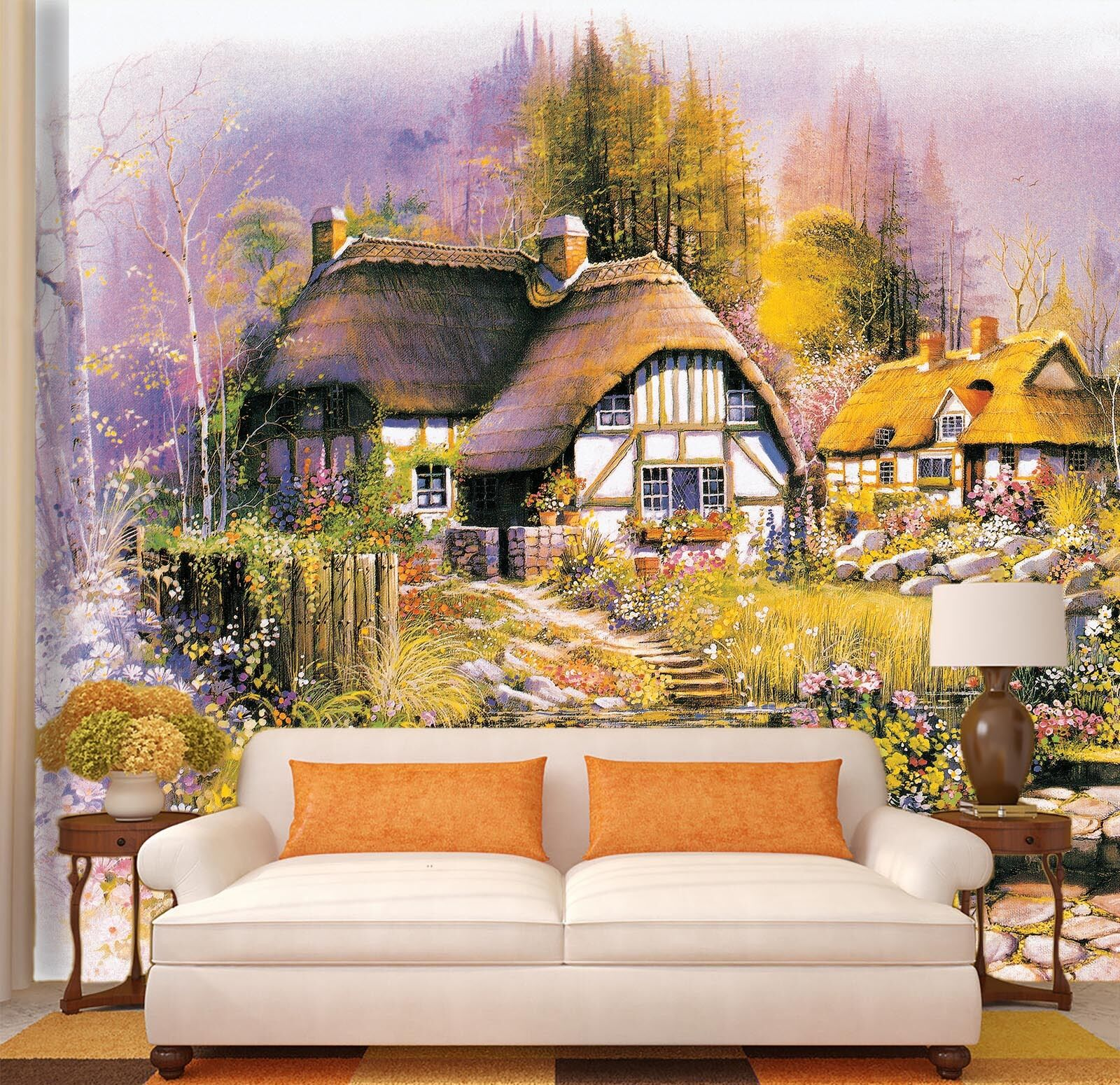 3D Town Oil Painting 1 Paper Wall Print Decal Wall Wall Murals AJ WALLPAPER GB
