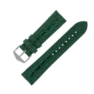 aab03e4e2 Image is loading Hirsch-CROCOGRAIN-Crocodile-Embossed-Leather-Watch-Strap -with-