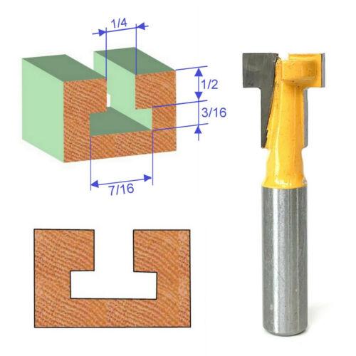 """1 Pc 1//4/"""" SH T-Fente /& t-track mortaiser pour s/'adapter 1//4/"""" Hex Bolt Routeur Bit sct-888"""