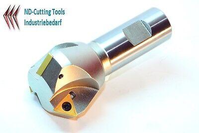 2x TCMT 16T304-HM P25 für Stahl 1x 45° Fasenfräser D=10-31mm-Z2-L100