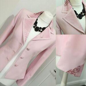 * Veni Infantino Pour Ronald Joyce * Pink Blossom Imprimé Détail Veste Sz 8 £ 395-afficher Le Titre D'origine Prix Raisonnable