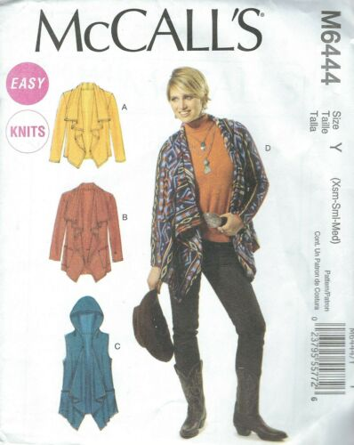 McCall/'s 6444 Misses/' Unlined Jackets and Vest   Sewing Pattern